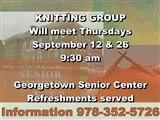 KNITTING GROUP  Will meet Thursdays ...