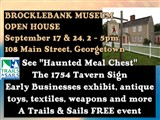 BrockMuseumSee 'Haunted Meal Chest'  The 1754 Tavern Sign  Early Businesses exhibit, antique toys,...