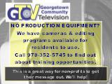 NO PRODUCTION EQUIPMENT?  We have cameras & editing programs available for residents to use.  Call...
