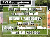 Did you know a permit  is required for all   Garage & Yard Sales?  Fee only $3  Apply at...