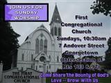 First Congregational Church Sunday Service