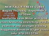Health_and_FitnessSrComCtrSignNEW FALL FITNESS CLASS  Begins Thursday, September 5  10:30am ...